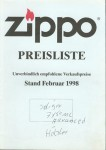 1998 Preisliste