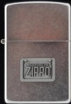 2002 Zippo car Licence plate pewter