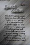 2017 GLLC member certificate