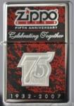 2007 Zippo 75 Click celebrating