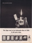 1963 This Zippo went to The Indianapolis Race