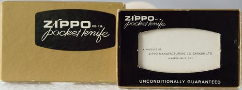 Zippo Pocket Knife Box gold