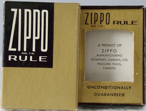 Zippo Rule Box gold