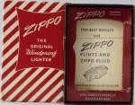 Zippo = box red stripes