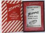 Zippo box red stripes
