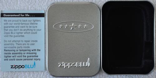 box metal zippo blu
