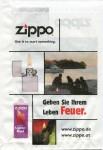 Zippo bag paper Feuer